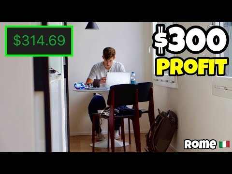 How I Made $300 Profit Day Trading In Rome | Investing For Beginners