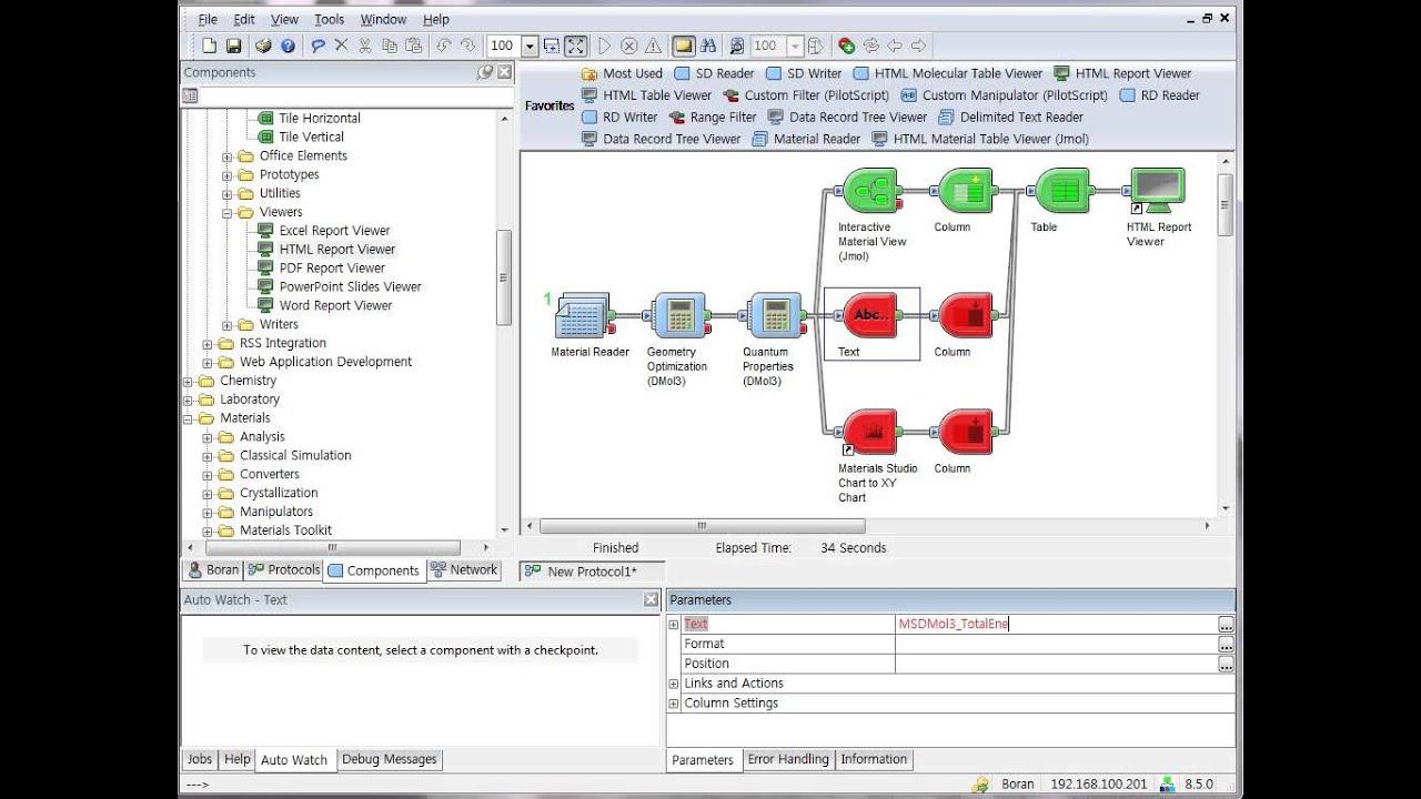 Quantum Property Calculation using Pipeline Pilot & Materials Studio DMol3