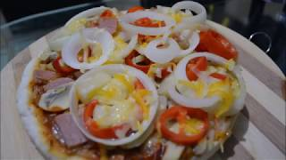 No Oven Pizza | How To Bake Pizza Without Oven | Pizza Recipe With Homemade Sauce | Healthy Pizza