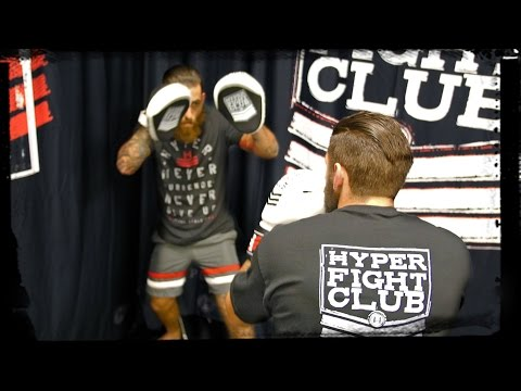 Learn MMA - How To Hold Mitts // Martial Arts Target Pads - Hyper Fight Club
