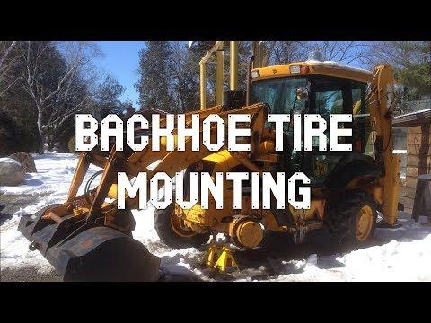 Setting Backhoe Tire Bead