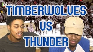 ANDREW WIGGINS GAME WINNER!! TIMBERWOLVES VS THUNDER 2017 FULL HIGHLIGHTS AND REACTION!
