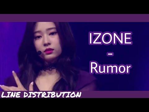 IZ*ONE/아이즈원 (IZONE) - Rumor | Line Distribution