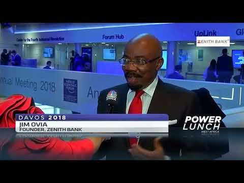 Founder/Chairman Of Zenith Bank Plc, Mr Jim Ovia At The 2018 World Economic Forum.