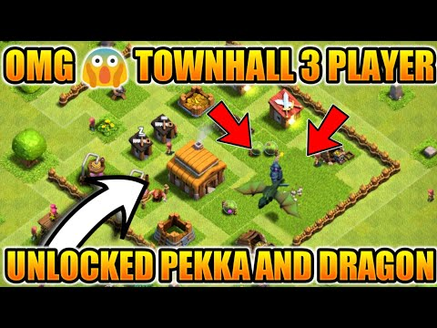 OMG😱 TOWNHALL 3 PLAYER UNLOCKED PEKKA AND DRAGON (HINDI)