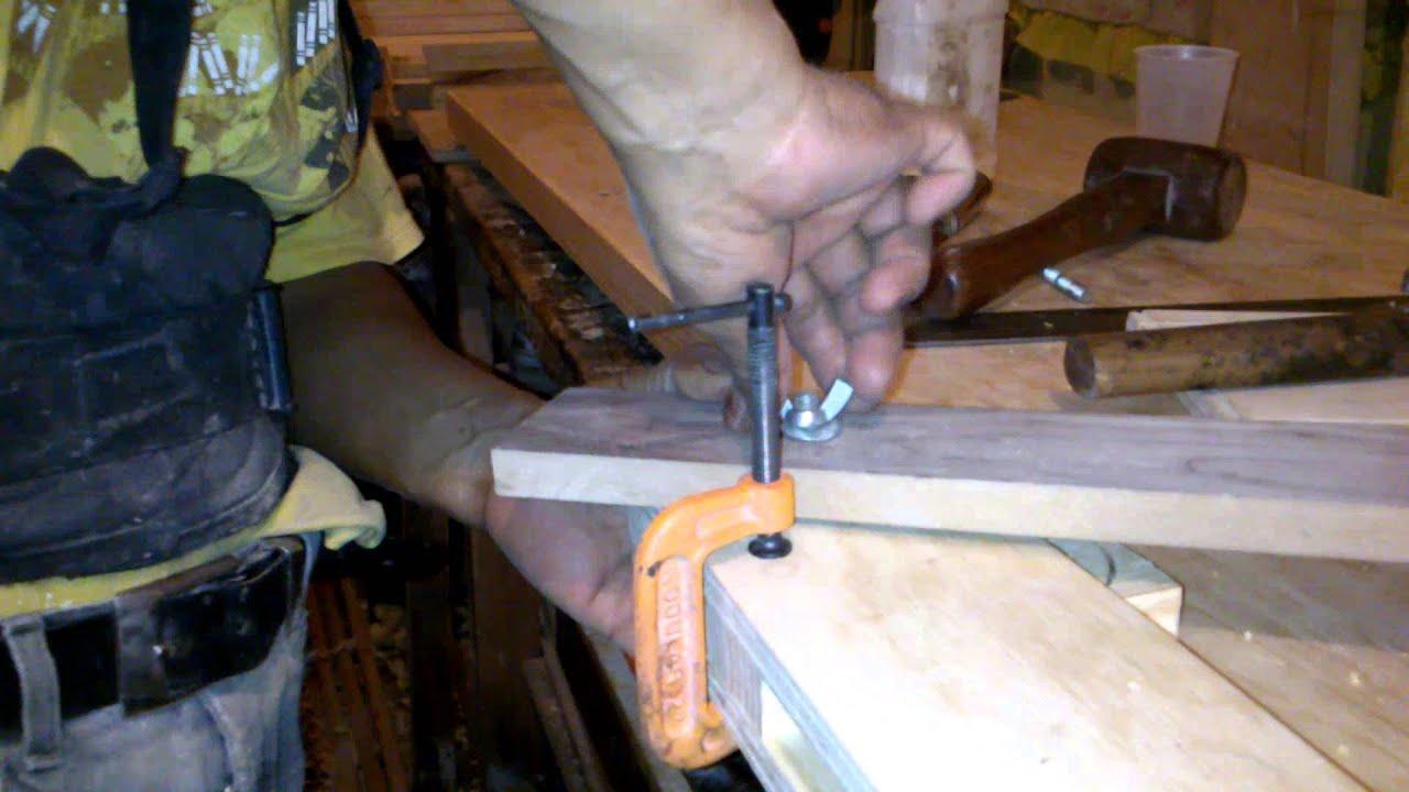 Como hacer escuadra de madera how to make wooden bracket - Como hacer cobertizo de madera ...