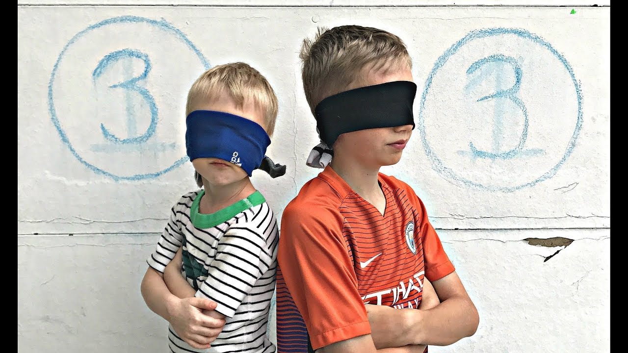 Blindfold girl boy boy