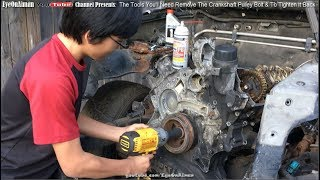 How To Remove Stubborn Crankshaft Pulley Bolt And The Tool You