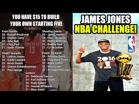 THE JAMES JONES CHALLENGE! CAN YOU WIN ANOTHER NBA FINALS? $15 BUDGET SQUAD BUILDER! NBA 2K17