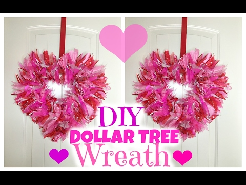 Dollar Tree Diy Valentine S Wreath Youtube