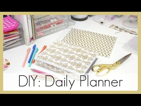 photograph about Diy Daily Planner identified as Do it yourself: How I Generated My Each day Planner erisaxo - YouTube