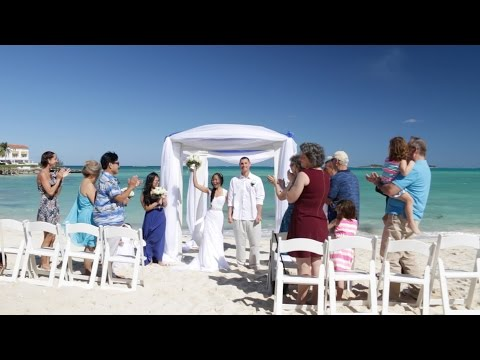 Bahamas Destination Wedding Video | Mike+Connie | Highlights