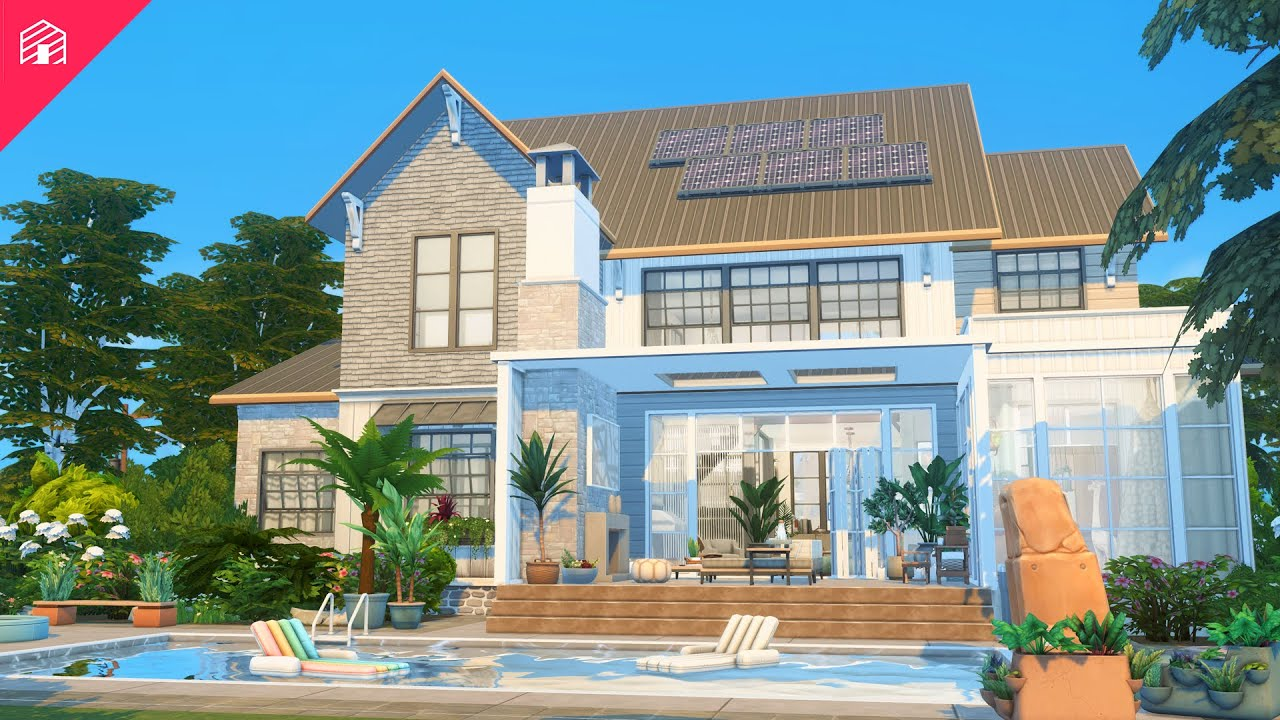 Download Modern Family Farmhouse   The Sims 4: Speed Build
