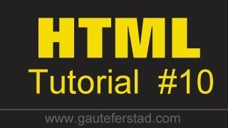 HTML Tutorial 10 Creating Internal Links - Linking your pages together - Part 1