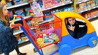 Emily Doing Shopping - Driving Car Shopping Cart