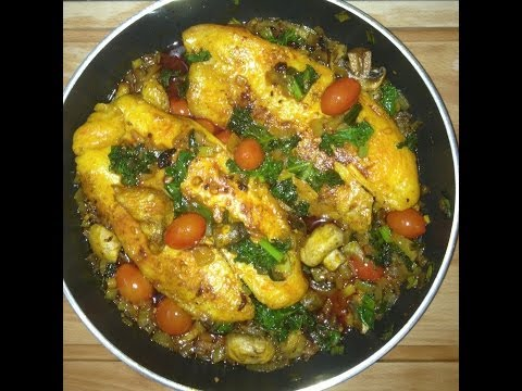 Red Palm Oil As Seen On DR.OZ Recipe, Benefits (Fish Fillet, Kale, Veggies & Red Palm Oil)