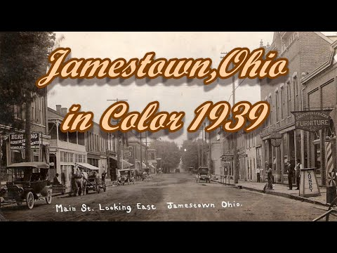 Jamestown, Greene County Ohio 1939 in Color