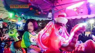 Naik odong odong Gajah  💖 Mainan anak di pasar malam