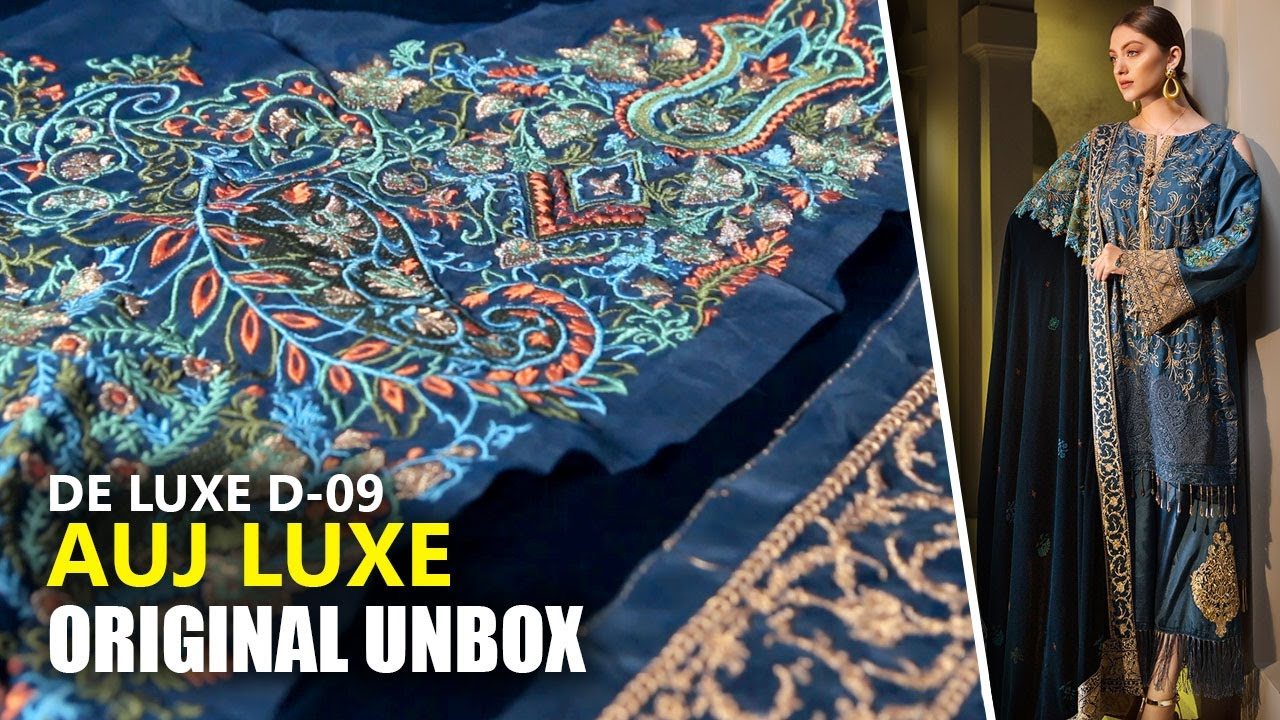 1ccdee51f7 Auj Luxury Collection 2019 - Unbox Jardin De Luxe D9 - Sara Clothes Maria B 👗