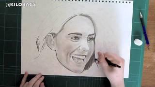 Pencil Drawing of Kate Middleton