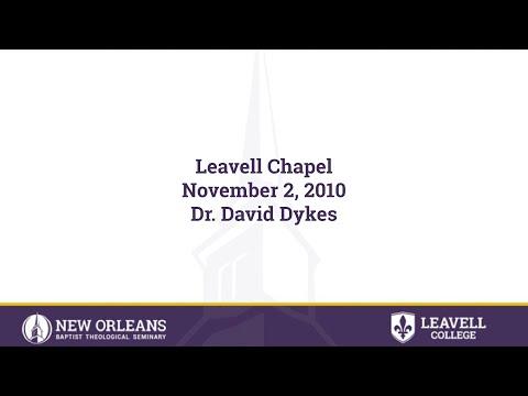 11/2/2010 - Dr. David Dykes; Pastor, Green Acres Baptist Church, Tyler, TX