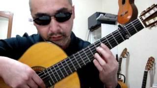南澤大介氏の編曲をベースに映画の挿入のイメージで演奏しました。 ギター:sinano concert guitar SC-40.
