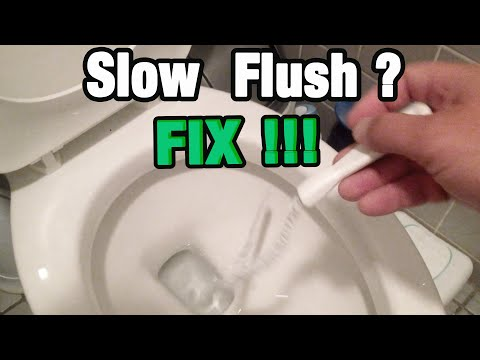 How To Fix Slow Flushing Toilet Tips