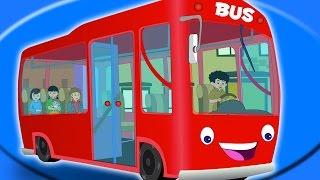 Колеса на автобус - красный цвет | Дети видео | детские стишки | компиляцию(научиться Колеса на автобусе потешек для детей и больше видео для детей в России и поют., 2016-06-22T10:00:55.000Z)