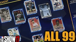All 99 Overall Team ALL 99 OVERALL LINEUP/ROTATION (Except Bullpen)|MLB The Show 17 Diamond Dynasty|