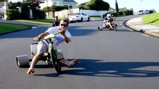 Trike Drifting(Download the song off iTunes! http://itunes.apple.com/us/album/toys-for-boys-feat.-cam-groves/id505988911 Make sure to check out the making of this video in ..., 2012-02-29T07:34:52.000Z)