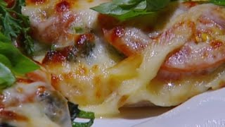 صدر الدجاج بطعم الشواء مع السبانخ والجبنة - نضال البريحي