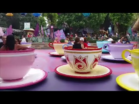 Mad Tea Party Tea Cups In Disneyland Fantasyland Full