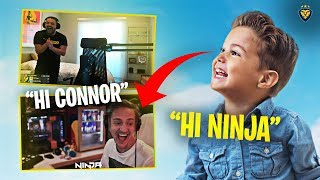 CONNOR MEETS NINJA! HE ROASTS HIM! IT FINALLY HAPPENED!!! (Fortnite: Battle Royale)