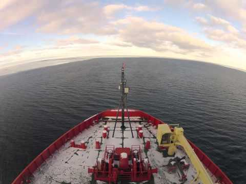 Two months aboard an Antarctic ice breaker, condensed to 5 minutes