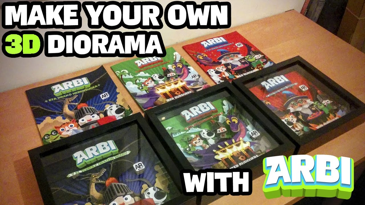 Make Your Own Diorama: ARBI Augmented Reality Book For Kids