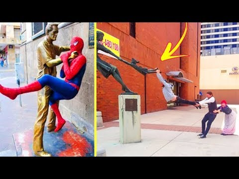 Hilarious Pictures of People Posing With Statues 「 funny photos 」