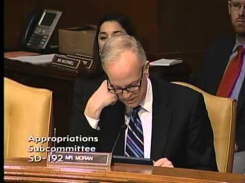 Sen. Moran Questions Sec. McHugh During Senate Appropriations Hearing