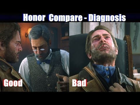 RDR2 Good Arthur vs Bad Arthur Doctor & Diagnosis - Red Dead Redemption 2 PS4 Pro