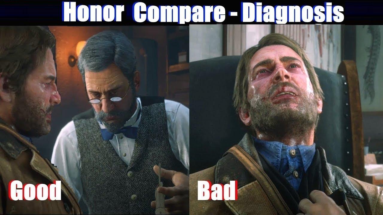 RDR2 Good Arthur vs Bad Arthur Doctor & TB Diagnosis - Red Dead Redemption 2 PS4 Pro
