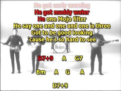 Come together Beatles best karaoke instrumental lyrics chords