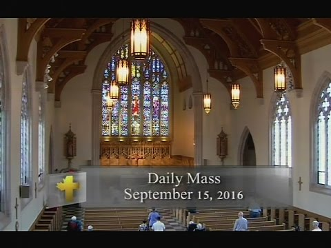 Daily Mass, Thursday 15 September 2016