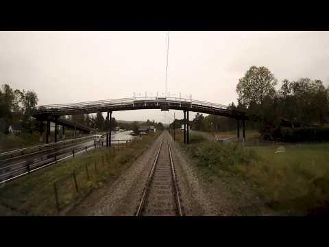 Train Driver's View: Autumn has arrived.  Ål - Bergen (Aal - Bergen)