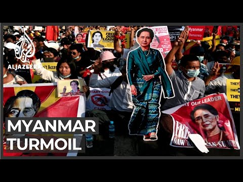 Myanmar protests resume, internet restored as military circles