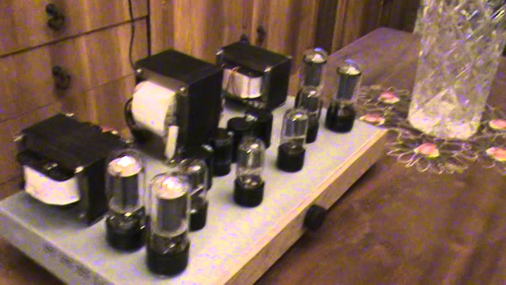 Тест лампового усилителя РР