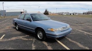 1997 Ford Crown Victoria LX|Walk Around Video|In Depth Review