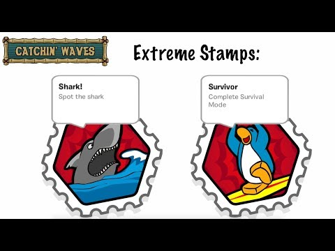 Catchin' Waves Extreme Stamps Guide - Club Penguin Rewritten