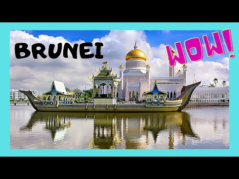 Exotic SULTANATE of BRUNEI, a night walking tour of capital, Bandar Seri Begawan