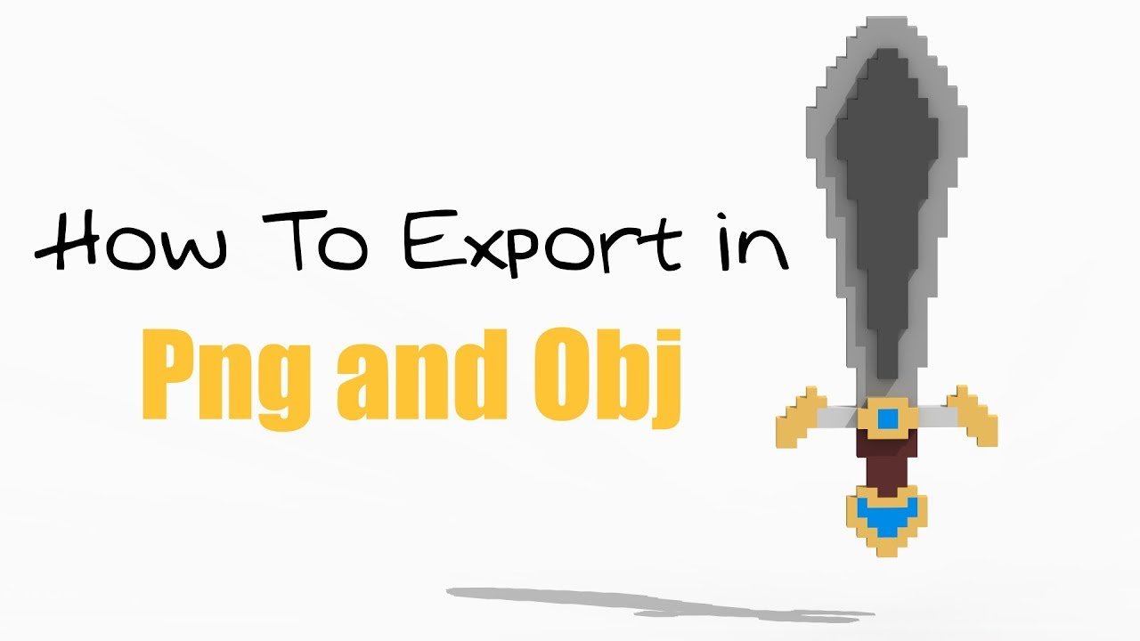 How To Export In Png and Obj in MagicaVoxel - Tutorial