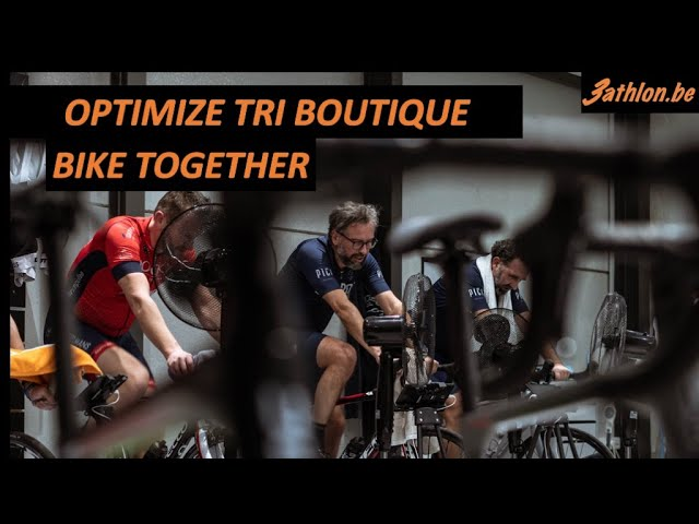 Bike together in Optimize Tri Boutique