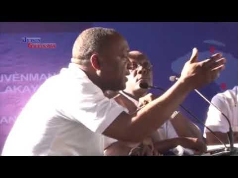 Jovenel Moise 18 novembre 2017 cap haitien, inauguration du force armee Haitienne / jarcbeatsde YouTube · Durée:  27 secondes